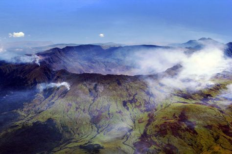 Aerial view of Mount Tambora. Image credit: Jialiang Gao (peace-on-earth.org).