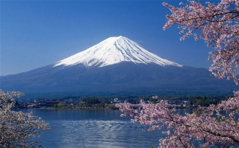 Mount Fuji is a stratovolcano that is also Japan's highest mountain, situated 100 km south of Tokyo. It last erupted in 1708.